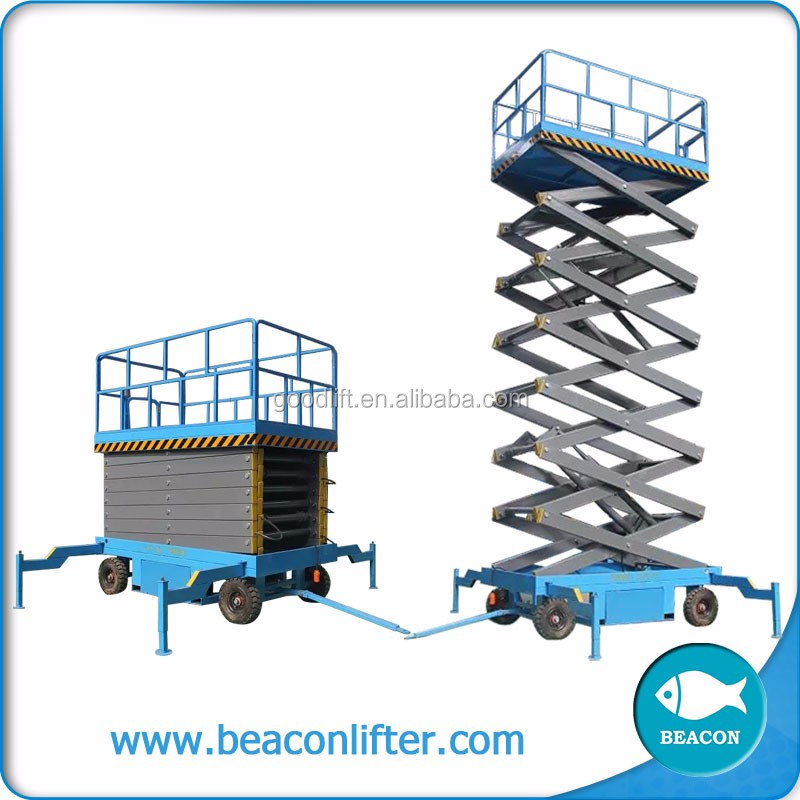 low price scissor hydraulic aerial work platform warehouse elevator lift