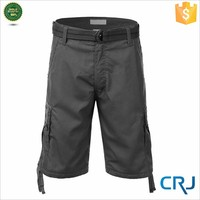 2015 New Design Loose Fit Casual Belted Basic Men's Cargo Short