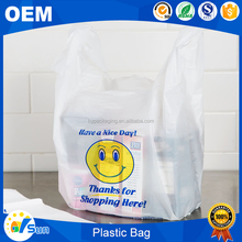 Convenient Life Market Packing Use Custom Logo Printed Reusable HDPE/LDPE Colored Shopping Plastic Bag