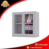 modern office design sliding glass door display cabinet metal filing cabinet