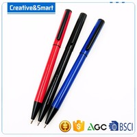 2017 Delicate Corporate Gift Good Quality Custom Promotional Metal Gel Pen/ Smooth Ballpoint Pen