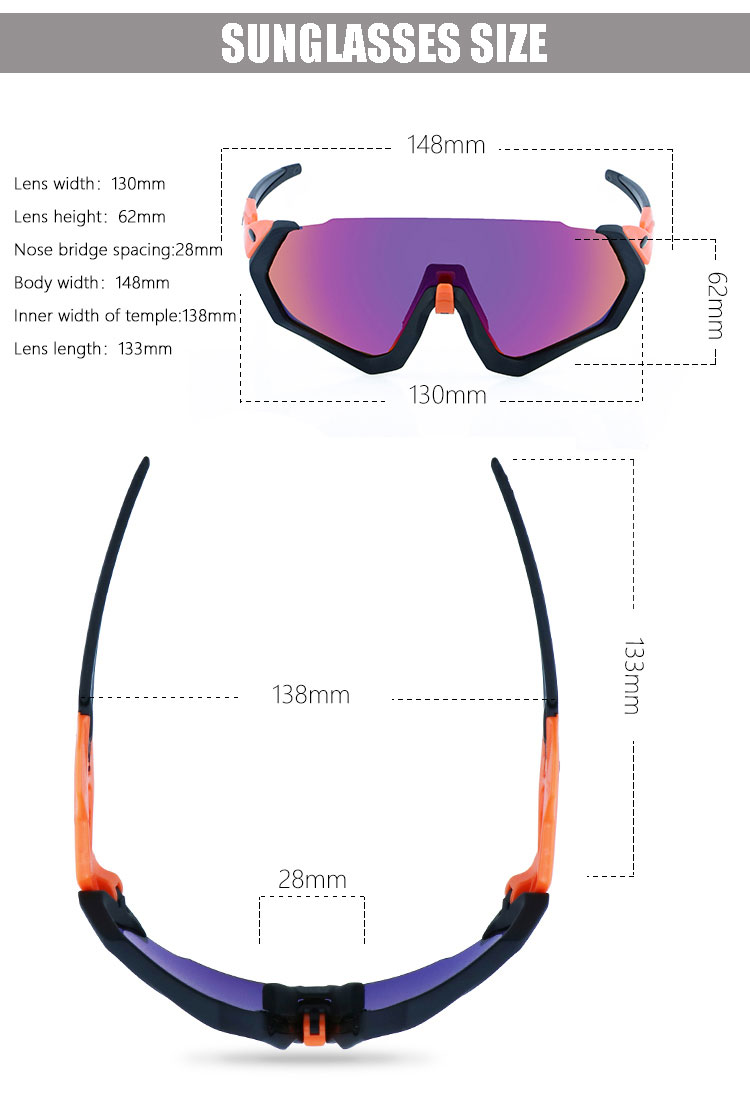 Men 사이클링 편광 야외 Mirror Lens 낚시 Hd Vision Tr90 PC Safety 선글라스 3 Lens Lentes Deportivos Ciclismo