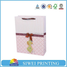 Promotional customized luxury satin drawstring gift bags