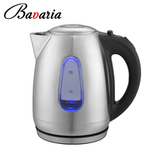 1.7L Stainless Steel Electric Thermo Kettle With Blue LED Light