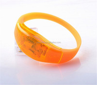 silicone sound control LED glowing bracelet