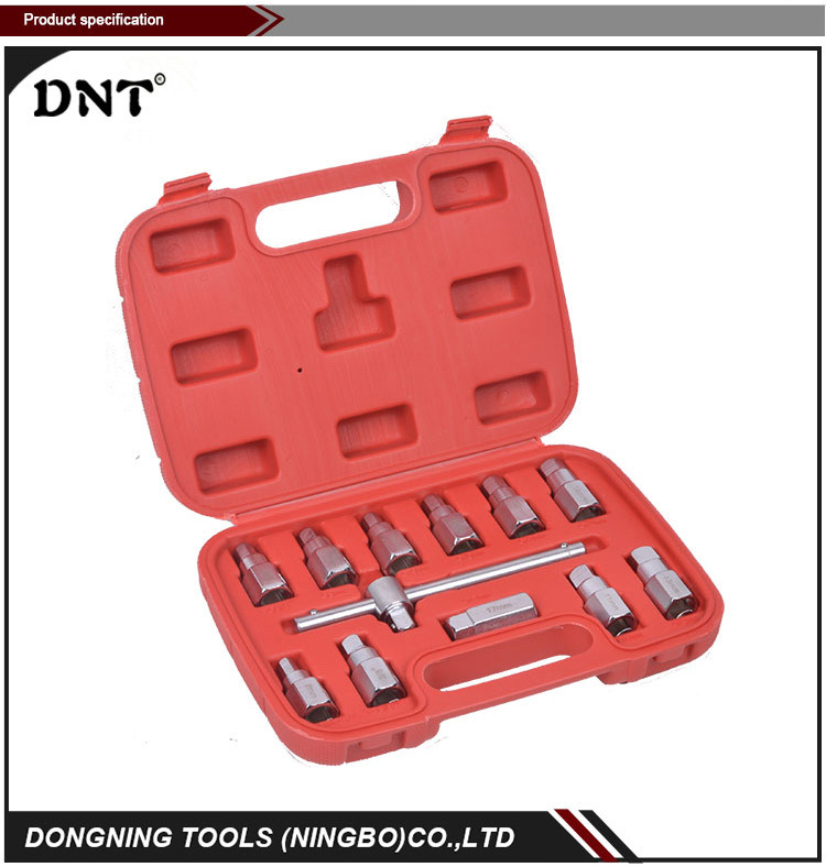 DN-C1001 12PCS Oil Drain Plug Key Set Reasonable & Acceptable Price