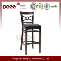 DG-W0031B Wooden Commercial bar stool High Chairs