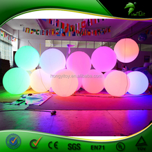 Customize Inflatable LED Balloon / Hanging Advertising LED Inflatable Lighting Ball / Colorful Decoration LED Crowd Ball