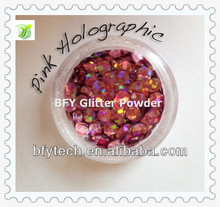 2013 Newest Pink Holo glitter sequins supplier
