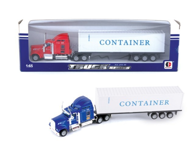Hot Sale Free Wheel Die-cast Truck With Semitrailer Toy,Metal Truck Toy,Free Wheel Car Toy