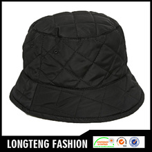 Black Padded Nylon Black Hat New Fashion Bucket Hat With OEM