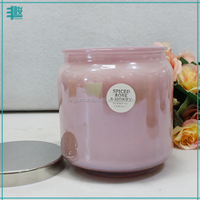 FengJun pomelo and honey suckle scented aroma soy wax candle in glass jar