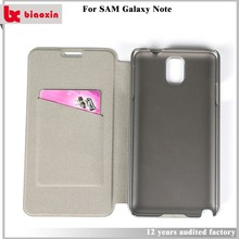 Anti scratch flip cover case for samsung galaxy note gt-n7000