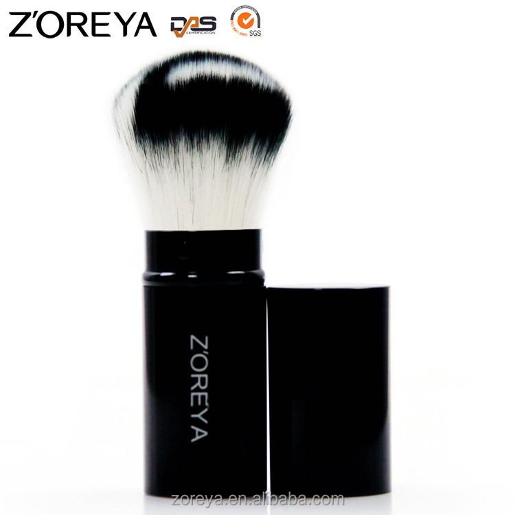 Stock Popular Private Label Retractable Powder Brush Kabuki Makeup Brush