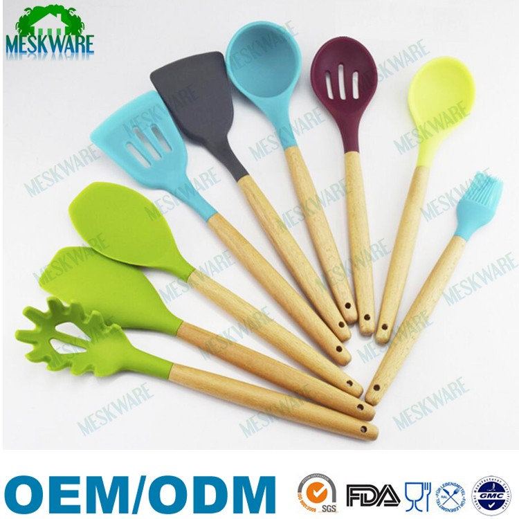 Perfect nonstick silicone nonstick cookware set, kitchen cooking utensils, cooking tool set of 8