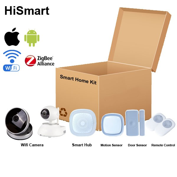 US EU UK Plug OEM Customized iOS Android APP CE RoHS 2016 NEW Smart Home Zigbee H6 Kit, Easy Installation and Operation