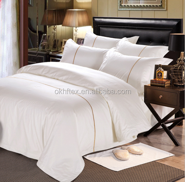 Pure white soft touch 100% cotton hotel bed <strong>sheets</strong>