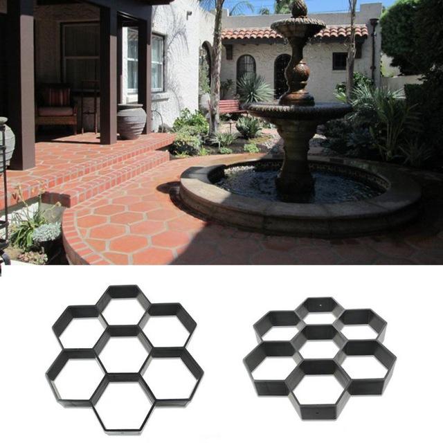 Black-Hexagon-Driveway-Paving-Pavement-Stone-Cake-Mold-Stepping-Pathmate-Mould-Paver-DIY.jpg_640x640