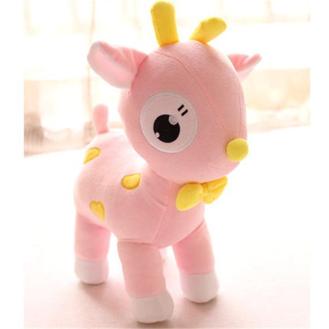 OEM smiling white/pink giraffes plush toy