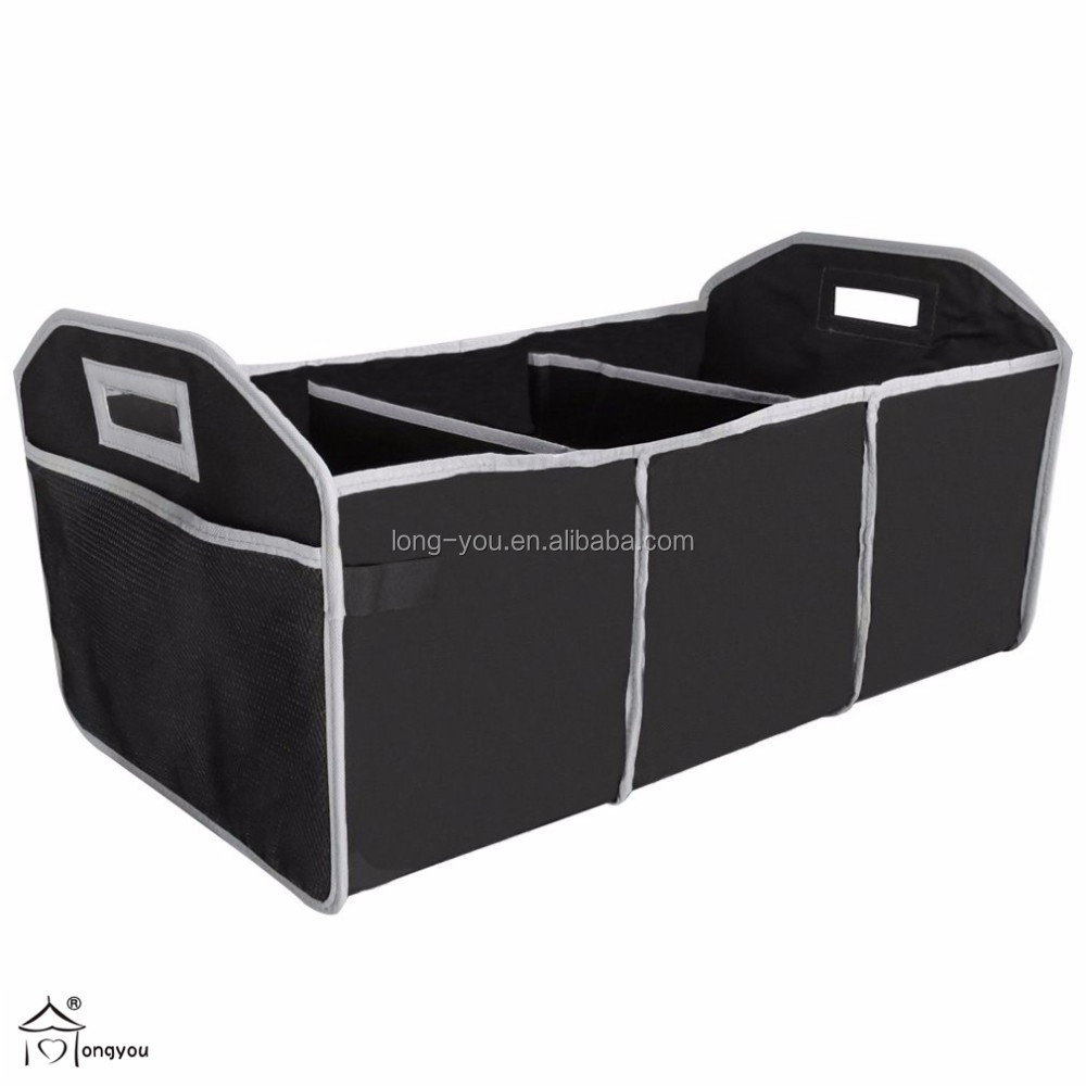 Collapsible trunk organizer removable car cooler bag