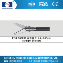2014 laparoscopy surgical instruments, disposable scissors straight