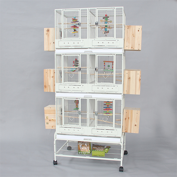 3 layer bird cage small parrot breeding cages with middle division B42