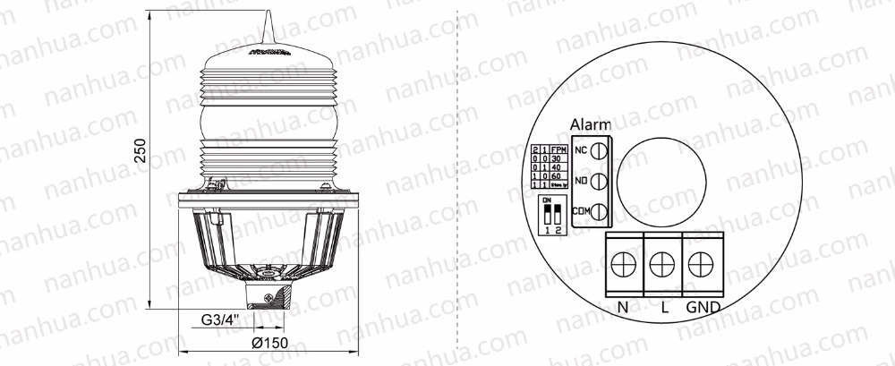 NANHUA LS710 low intensity red aviation obstruction light