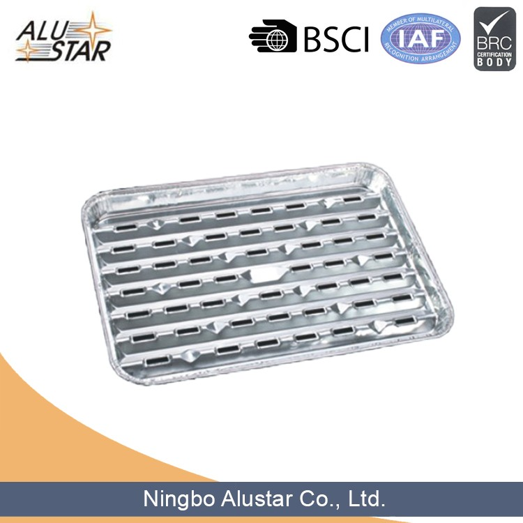 Disposable Pollution-free Aluminum Foil Container For Barbeque, BBQ Grilling Trays
