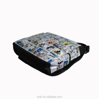 Wholesale Cheap Price Cartoon Printed Messenger Bag for School Children