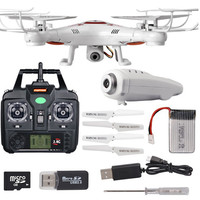 Wholesale 2.4G 6 axis rc helicopter with camera with 0.3/2MP hd camera quadcopters rc drone for child best gift