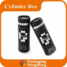 round black cardboard cylinder wine carry gift box