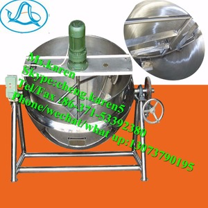 Gas jacketed kettle / Electric jacketed kettle with agitator / Jacketed kettle mixer