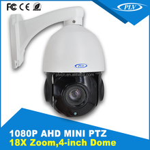 50M infrared distance 18X zoom 4inch case indoor outdoor AHD MINI High Speed Dome PTZ Camera