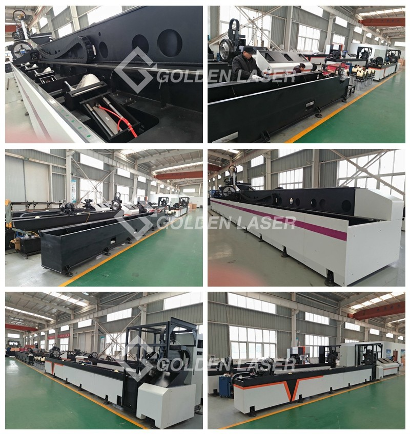 Laser Pipe Cutting Machine in Production