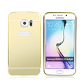 plating mirror aluminum+pc case for samsung galaxy s6 edge