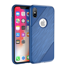 Wholesale gel rubber soft tpu case carbon fiber brushed cell phone cover case for iphone x