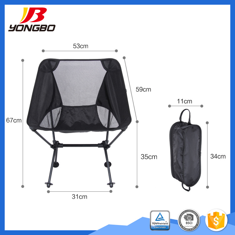 OEM ODM factory No assembly required 2017 aluminum beach camping chair folding chair