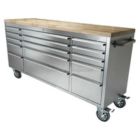 72 inch wood table US General Tool Box With Casters Toolbox