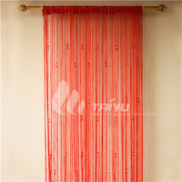 Red popular shimmering turkish curtain for home decoration
