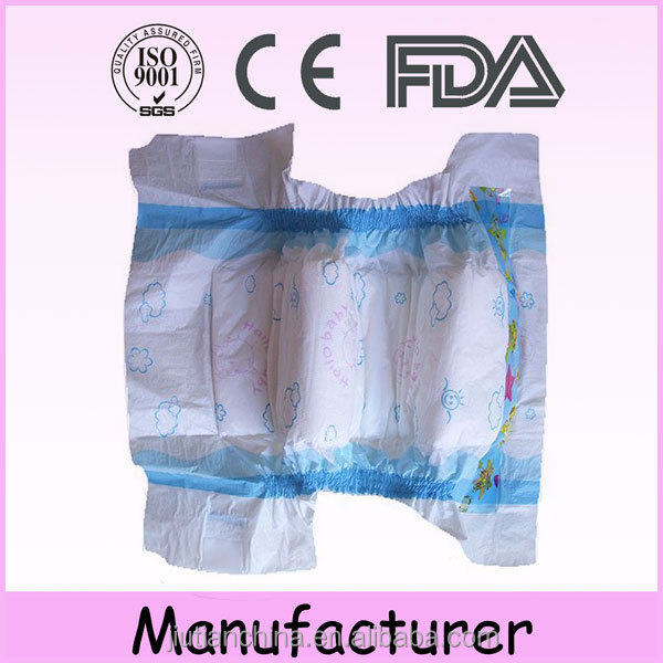 100% soft pampas disposable baby diaper from Quanzhou china