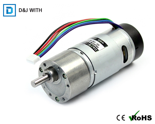 Spur/Helical Geared Motor With Encoder