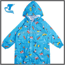 Fashionable kids waterproof pattern rain poncho