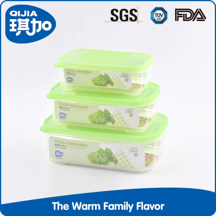 High quality Rectangular plastic fruit vegetables food container with lid