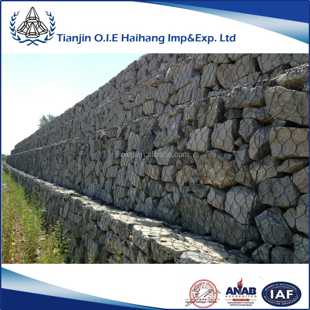 Hot-dip galvanized low carbon steel wire Gabion box / Gabion mattress / gabion mat