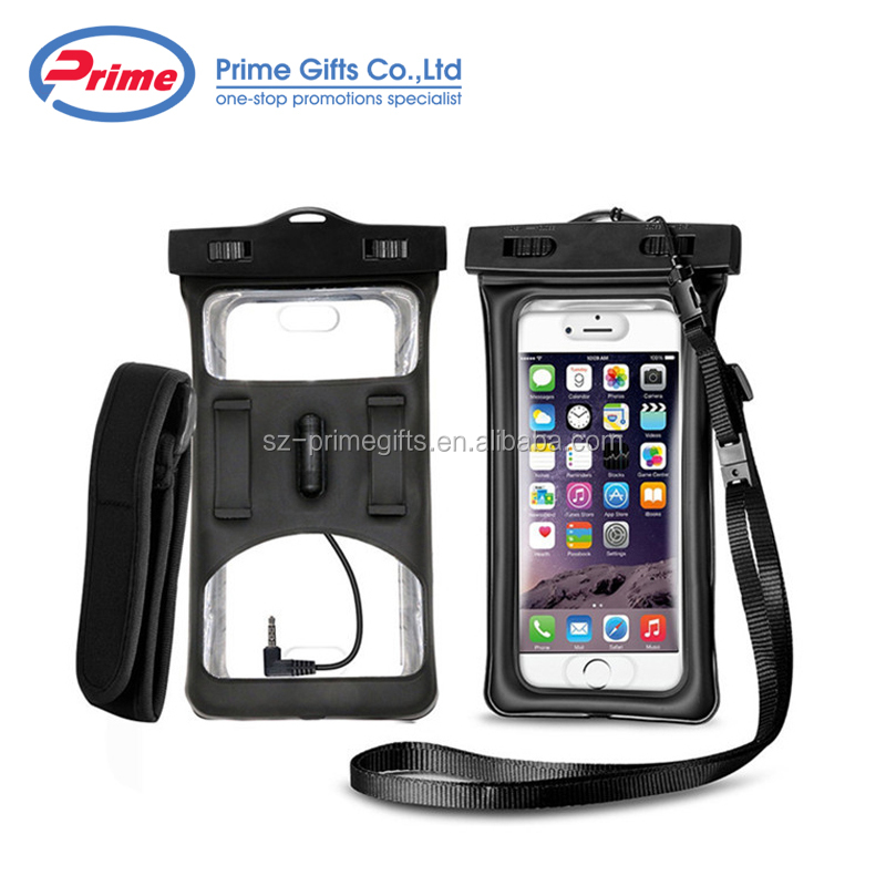 2018 New Arrival TPU Floating Mobile Phone Waterproof Case with Adjustable Strap