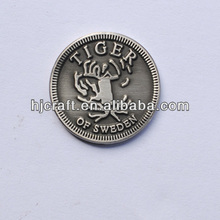 tiger of sweder grave coins custom metal round souvenir coin