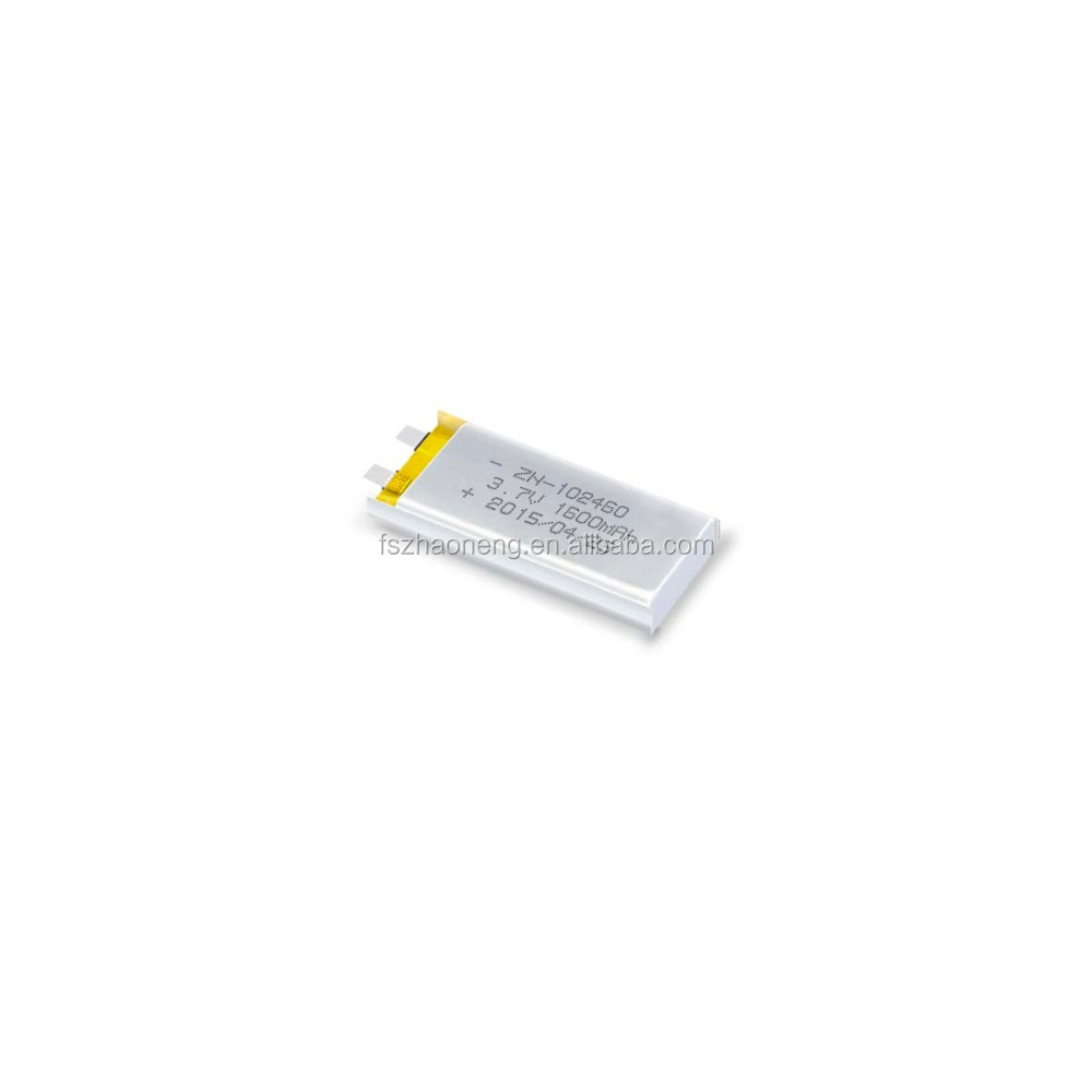 3.7v Lithium Rechargeable Battery for hearing aid(ZN102460-1600mAh)