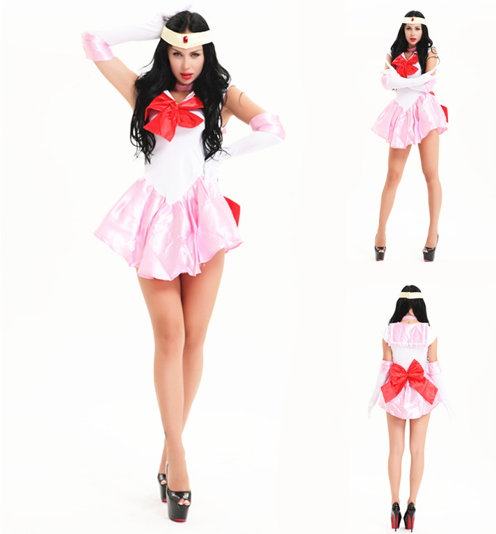 Sailor Moon Mars Mercury Jupiter Venus Costume Cosplay Dress Up Sailormoon