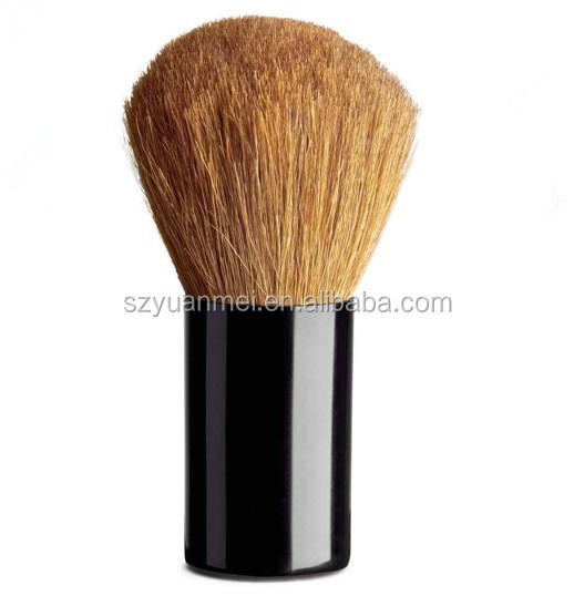 Top quality blush brush with goat hair , aluminum tube