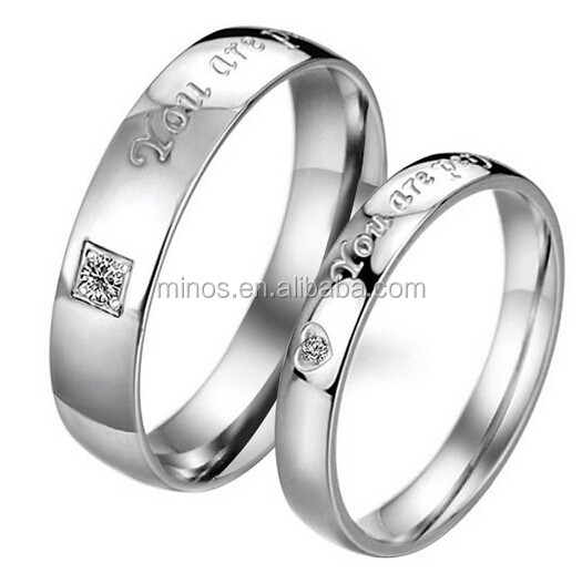 Men's Women's You Are perfect in my mind Stainless Steel Promise Ring Couples Engagement Wedding Bands